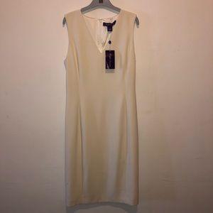 Cream Sleeveless Dress Ralph Lauren